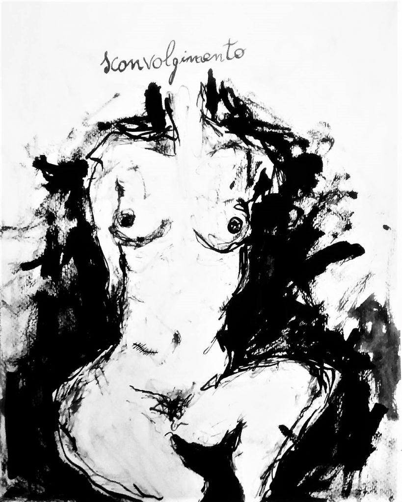 Haiku sconvolgimento - disegno di elisabetta biondi