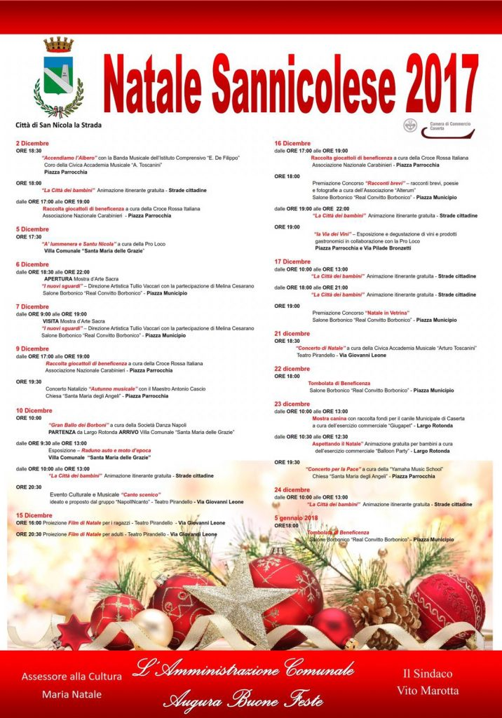 Programma del Natale a San Nicola