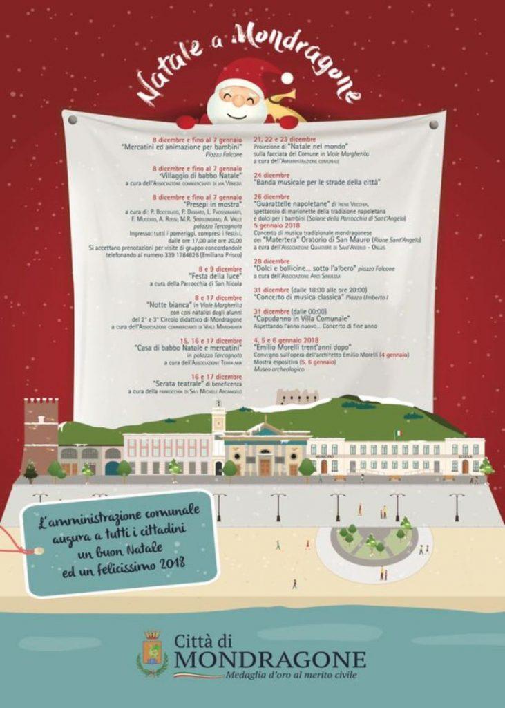 Programma delle attività natalizie a Mondragone