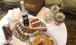 Bottiglia di Setanera tra la cioccolata