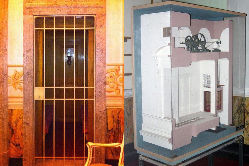 l' ascensore della Reggia di Caserta e il suo prototipo