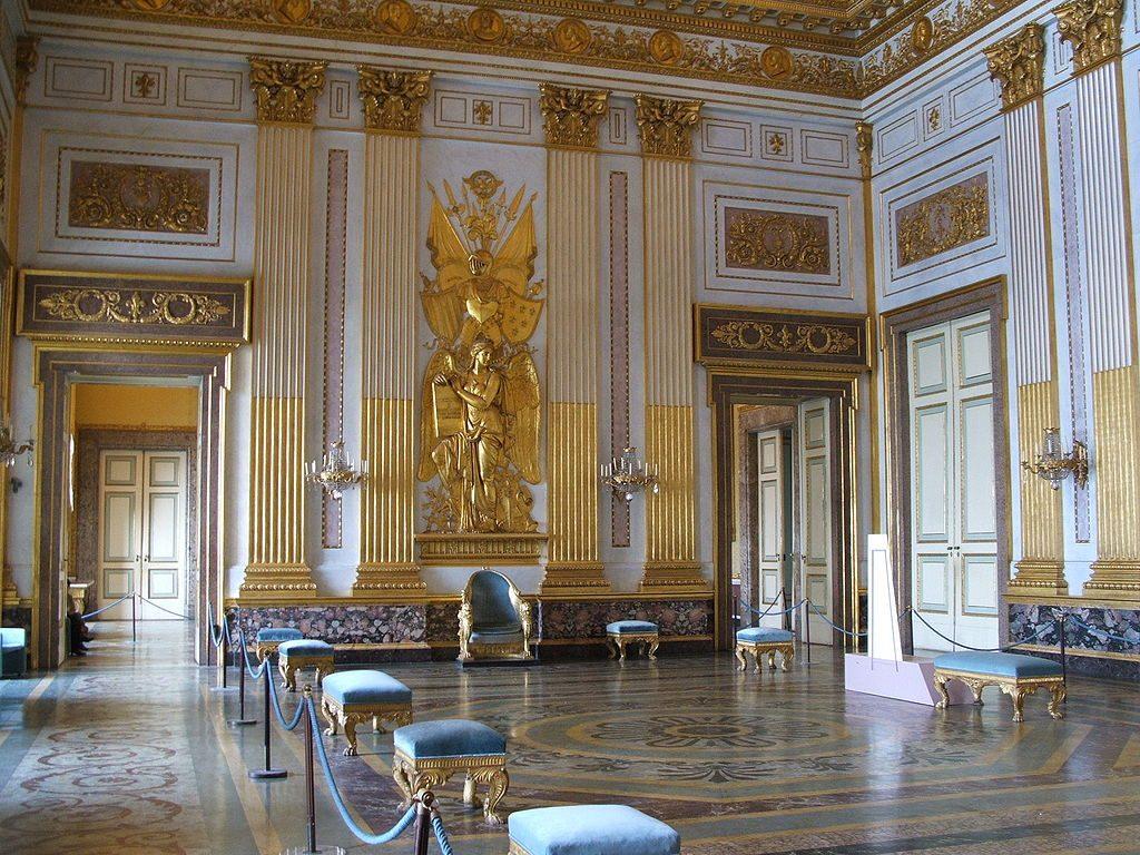 La sala del trono della Reggia di Caserta