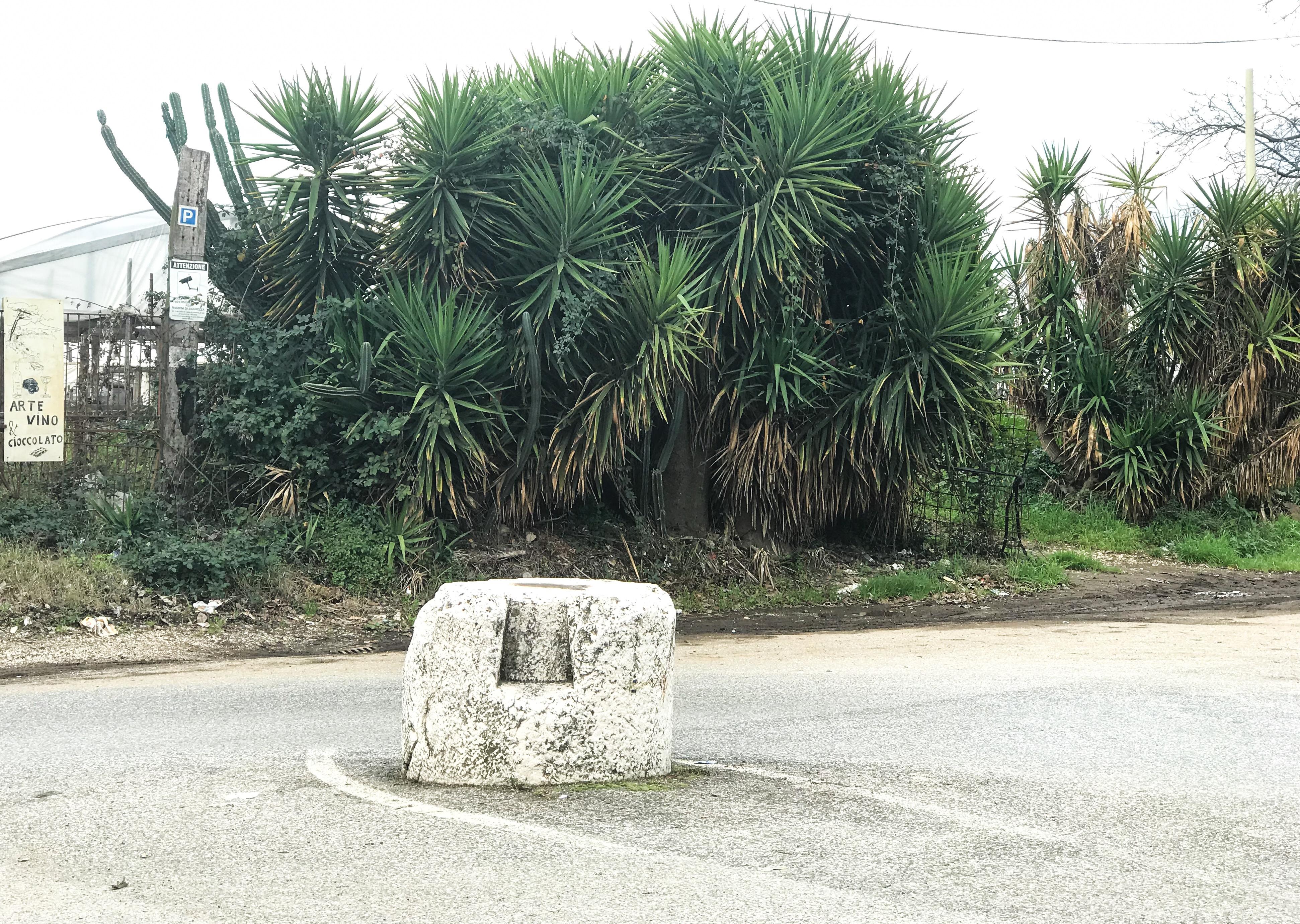 La pietra da un'altra angolazione