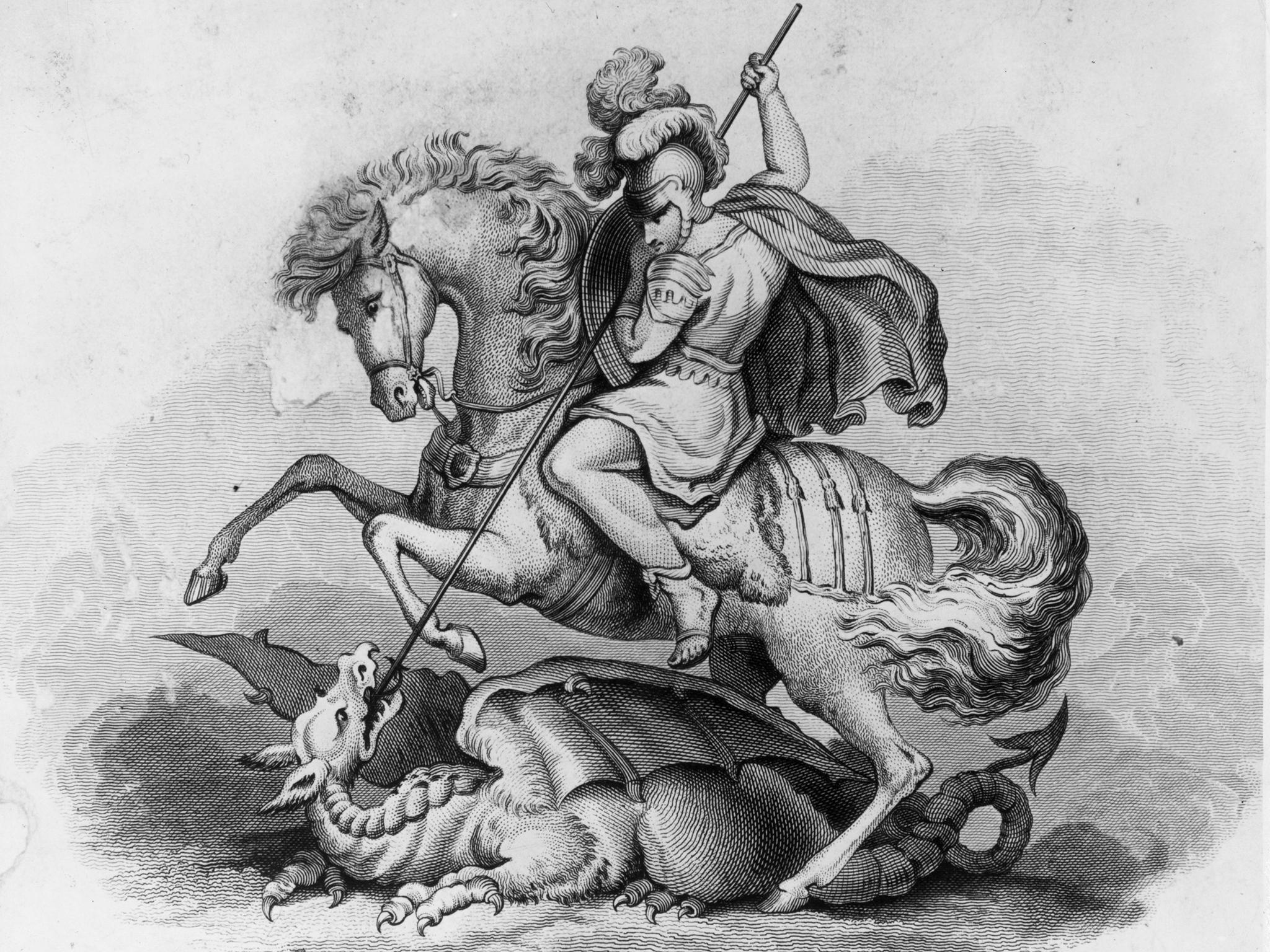 San Paride mentre uccide il drago