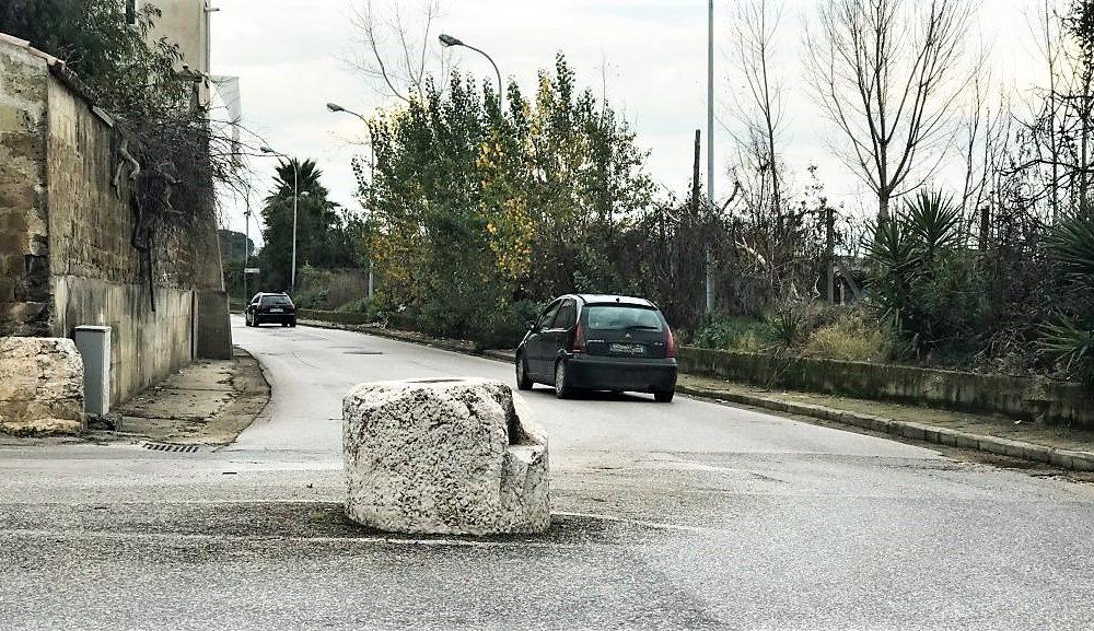 Veduta della pietra di trentola di marcianise
