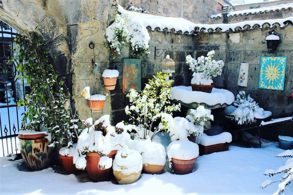 Casertavecchia e la neve