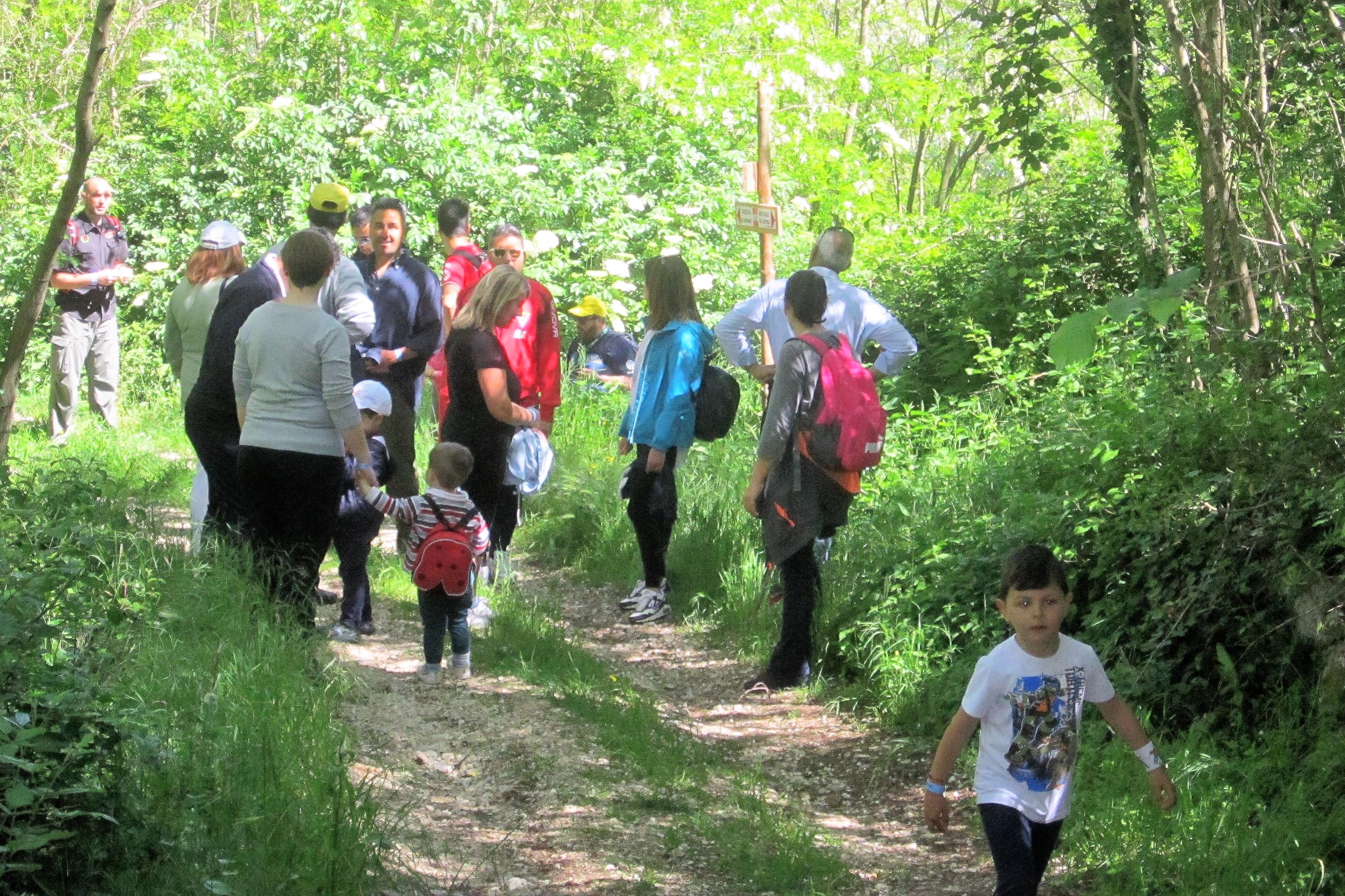 gli escursionisri della festa di primavera a Vairano