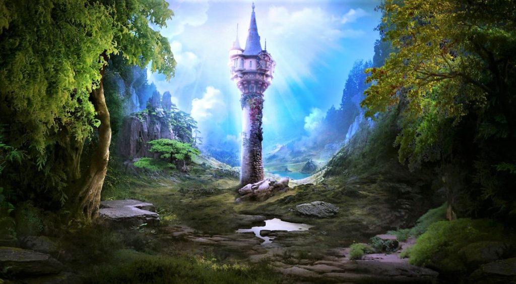 la torre della leggenda del lago delle corree
