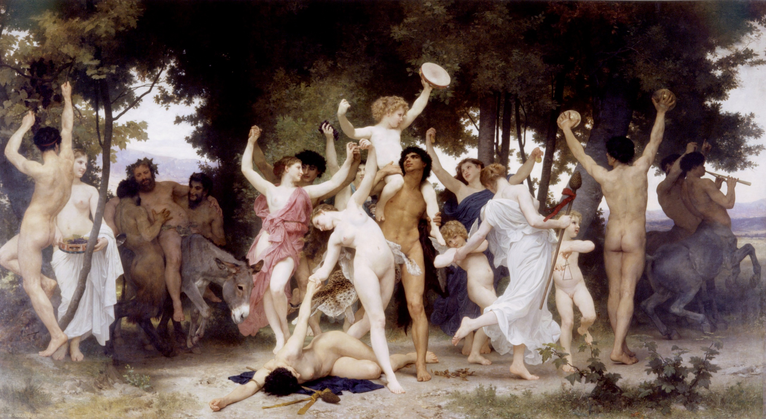 La gioventù di Bacco (William Adolphe Bouguereau, 1884)