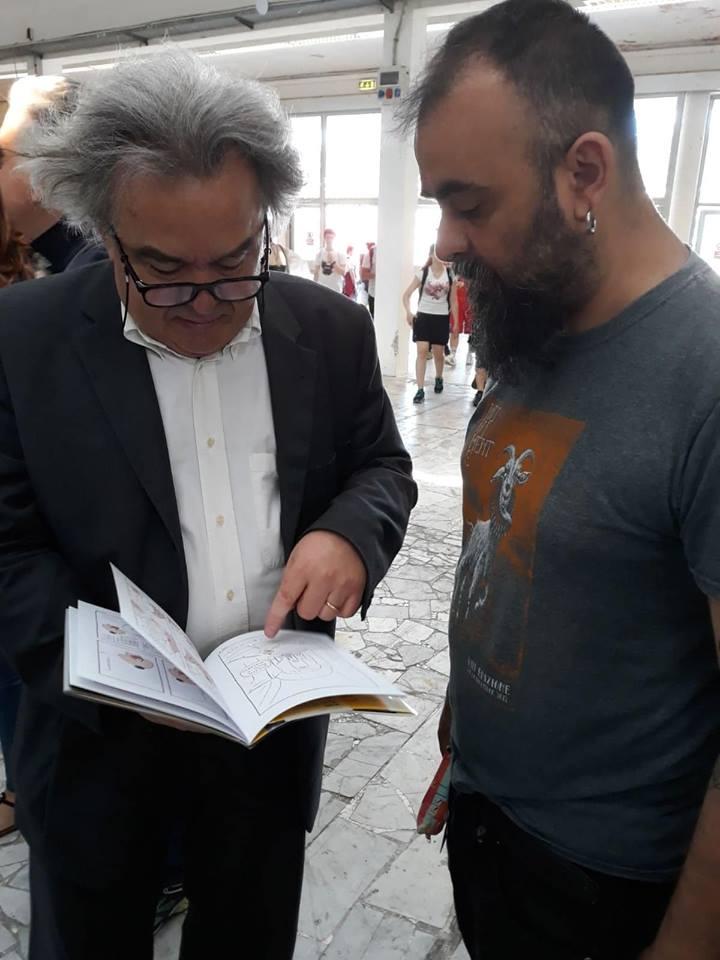 Maicol&Mirco col direttore Mauro Felicori