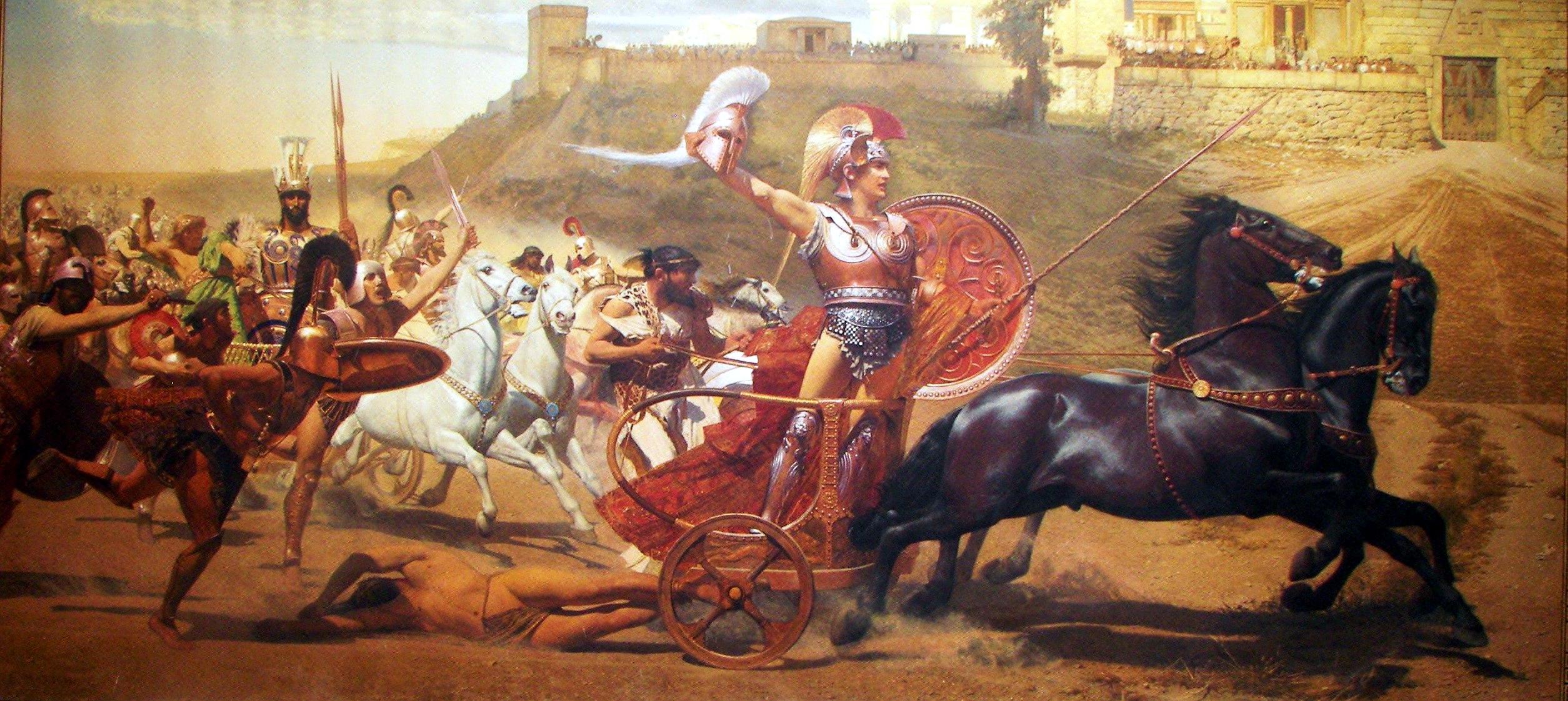 Achille che fa scempio del cadavere di Ettore