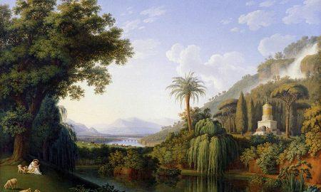 800px Hackert, Landschaft Mit Motiven Des Englischen Gartens In Caserta, 1797