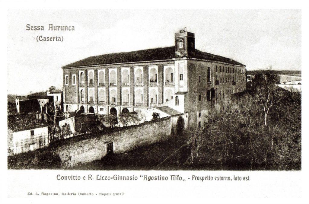 cartolina con il Convitto Nazionale Sessa Aurunca