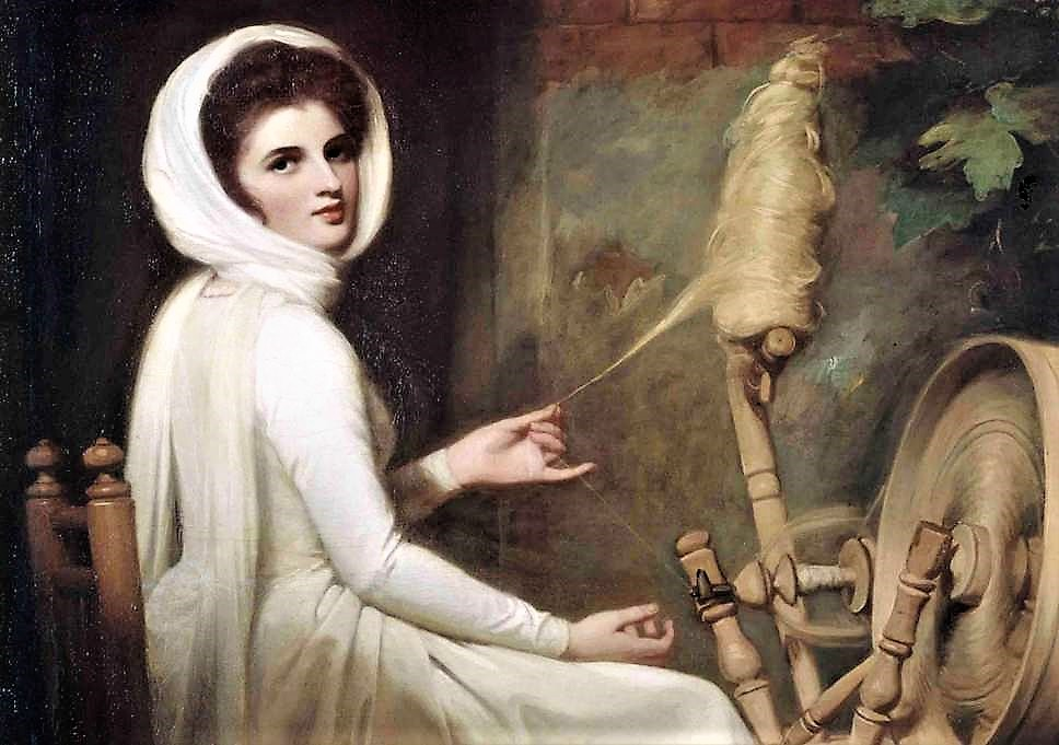 George Romney - Emma Hamilton as the spinner