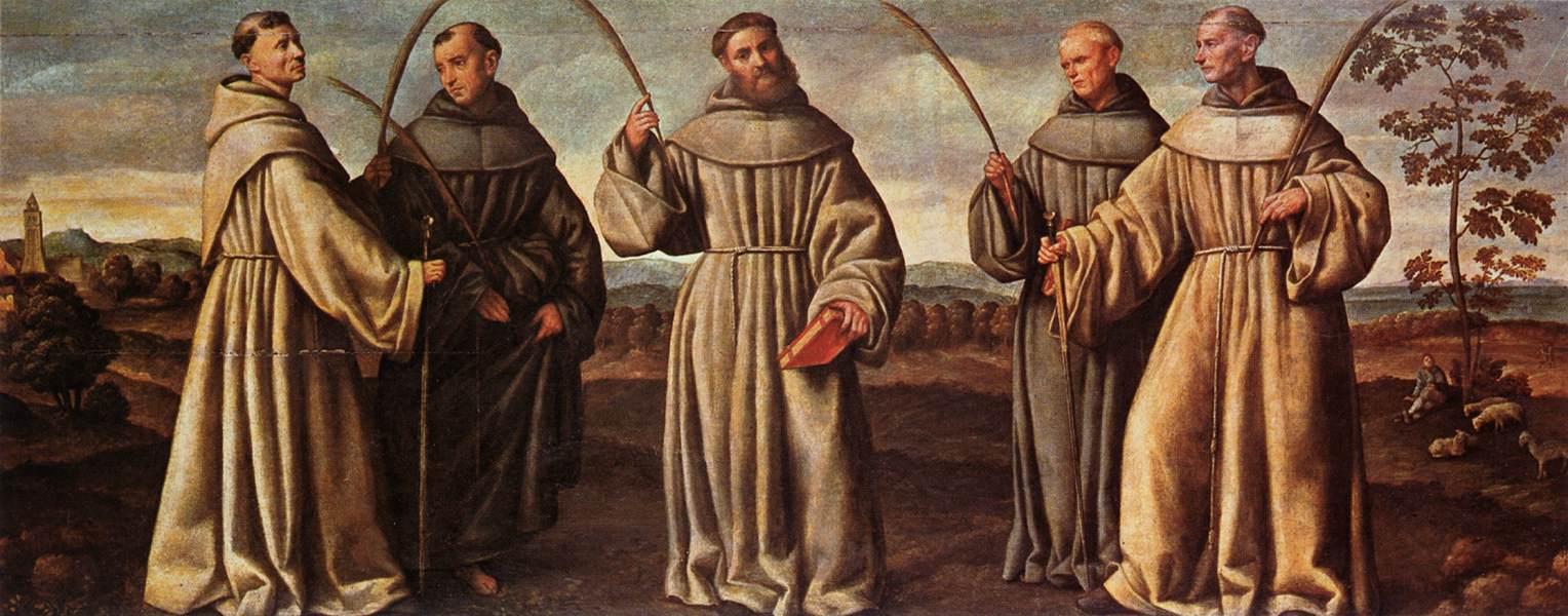 Francescani nel convento di Santa Maria della Vigna