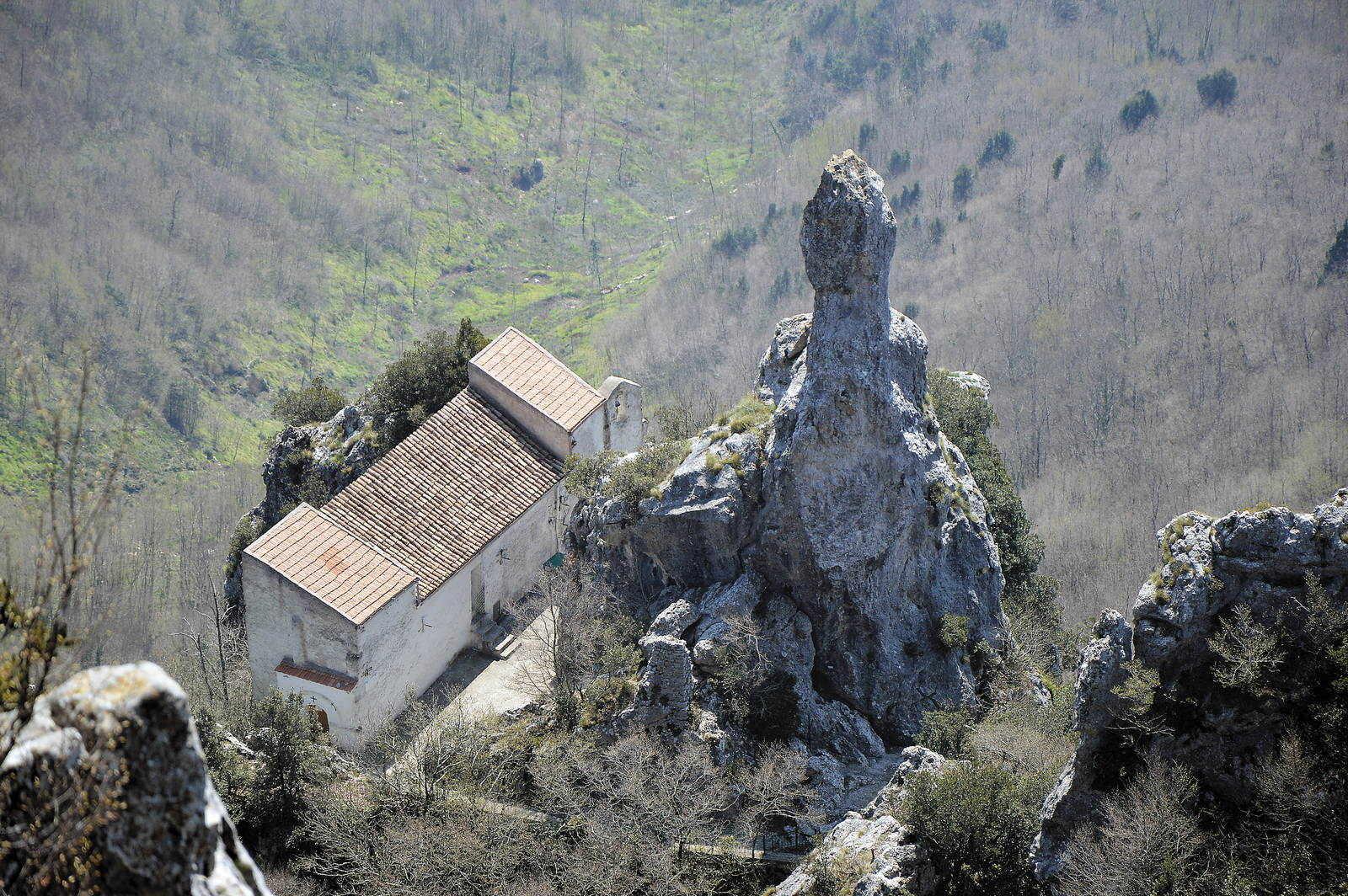 Veduta aerea dell'Eremo di San Salvatore