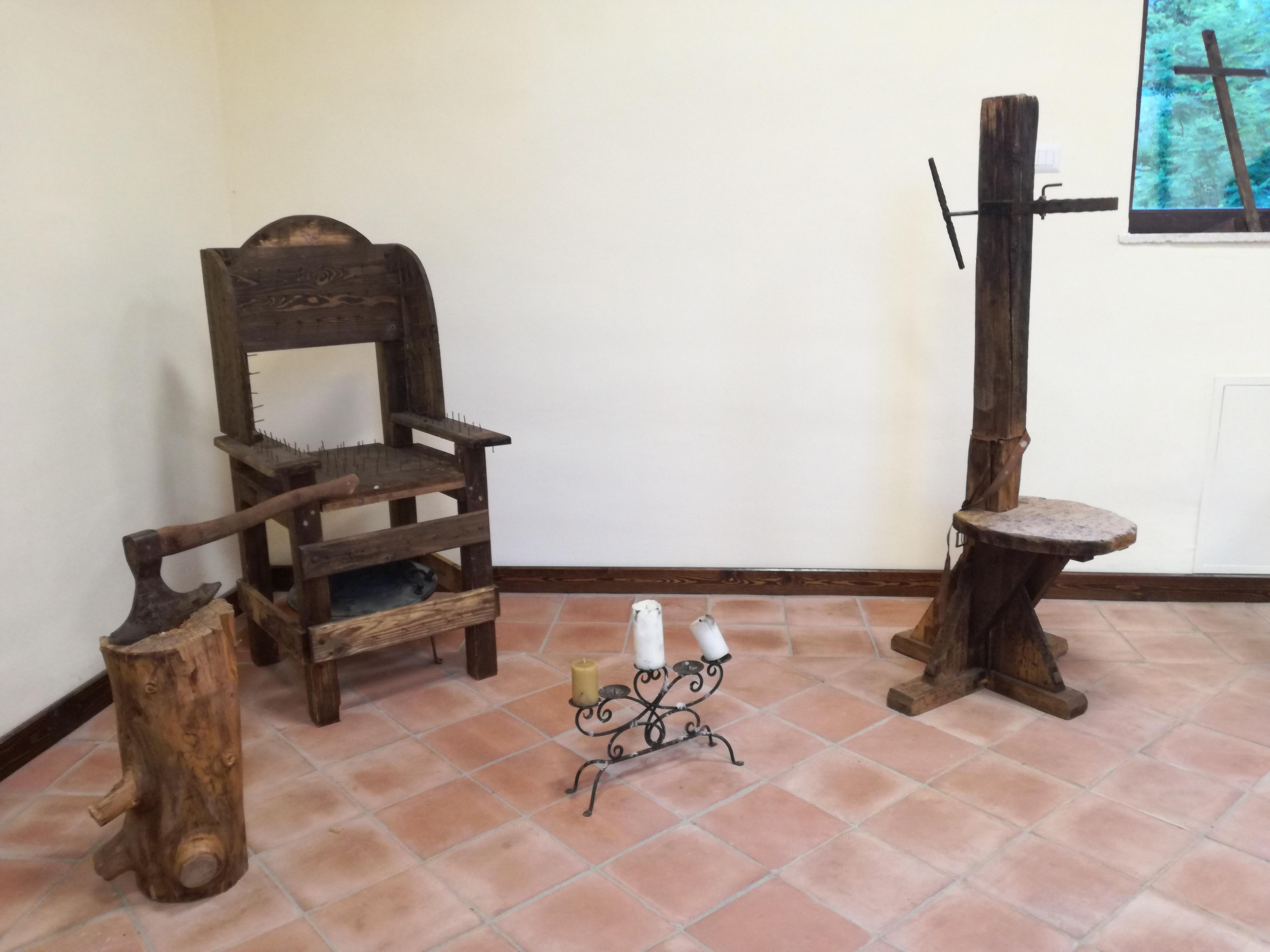 torture riprodotte per il museo di Antonio Cambio