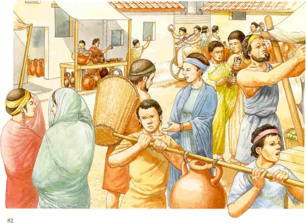 Un esempio di com'era organizzata l'area commerciale ai tempi dell'Impero Romano