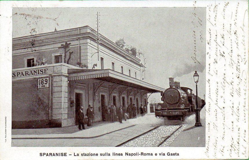Ferrovia Sparanise Gaeta - cartolina d'epoca