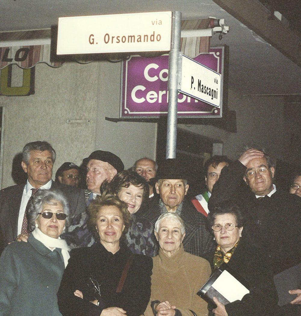 Inaugurazione di una via intitolata al padre di Nicoletta Orsomando