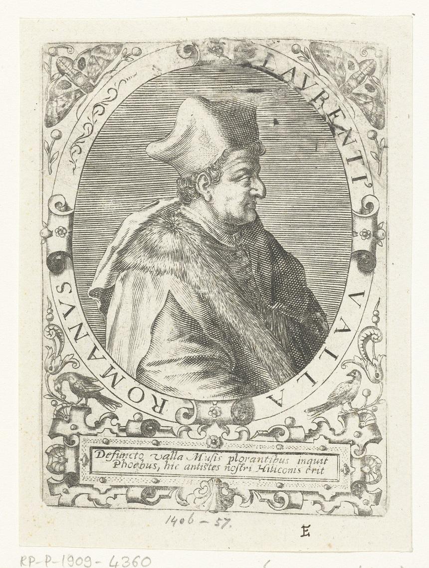 Ritratto di Lorenzo Valla, mentore di Antonello Petrucci
