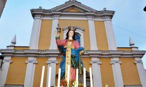 Festa di Santa Matrona di San Prisco - facciata della chiesa