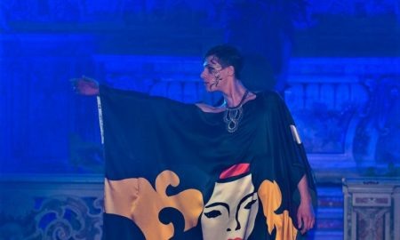 Ritorno Di Dioniso - modella durante la sfilata