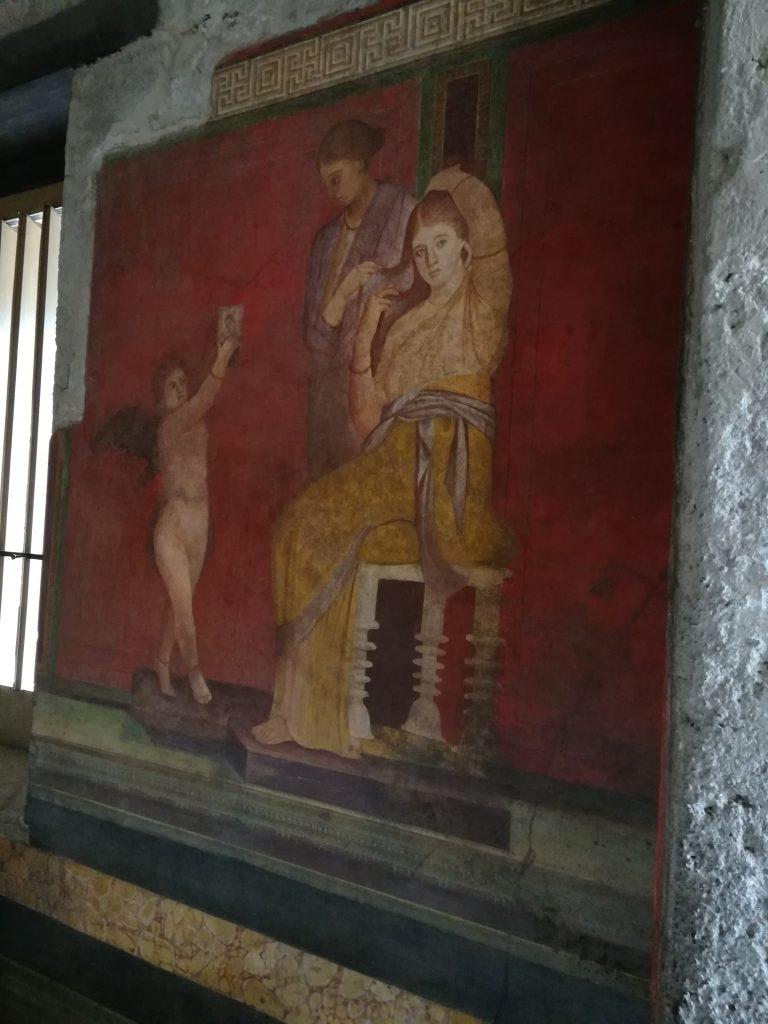 oli e profumi antica capua - Scena visibile presso la Villa Dei Misteri