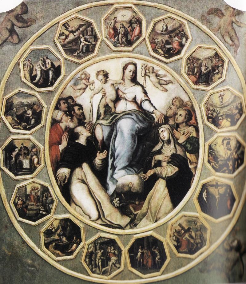 Madonna del Rosario, di Marco Pino, pittore che fu d'ispirazione per Giovan Battista Graziano