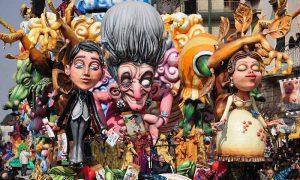 Carnevale di Villa Literno - uno dei carri