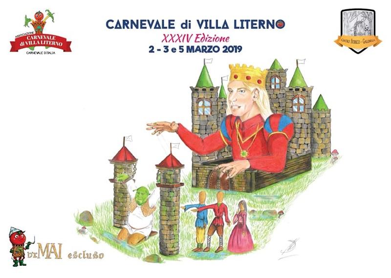Manifesto del Carnevale di Villa Literno 2019