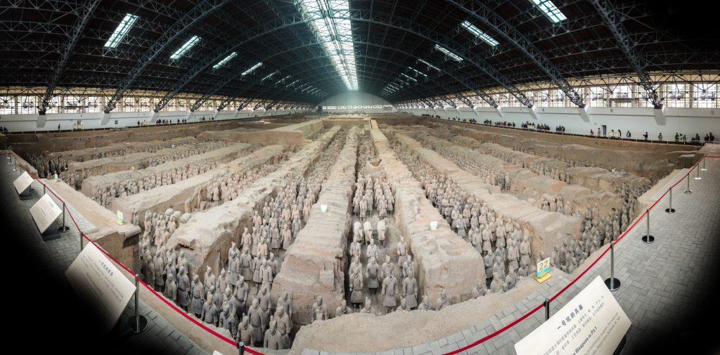 Esercito Di Terracotta Reggia di Caserta - una sezione del Museo cinese