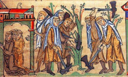 grangia cistercense - quadro dell'epoca
