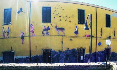 uno dei murales di San Potito Sannitico