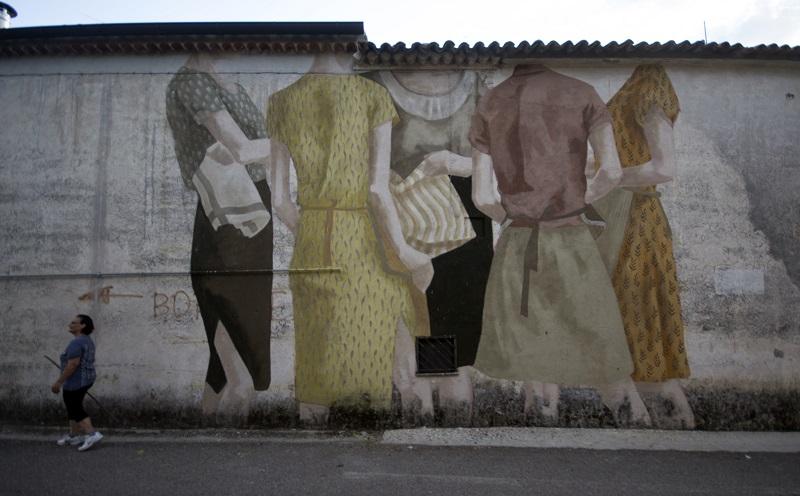 Murale di Hyuro a San Potito Sannitico