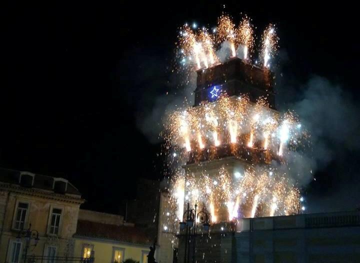 incendio del campanile del duomo di santa maria capua vetere