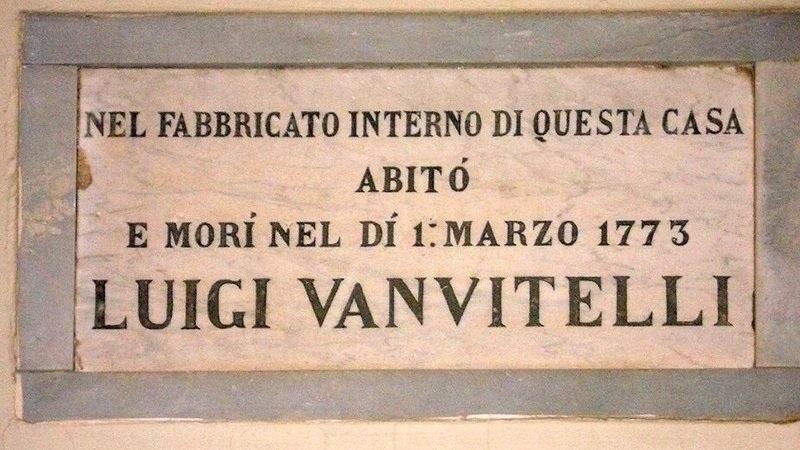 Lapide Commemorativa della presunta Casa Di Vanvitelli