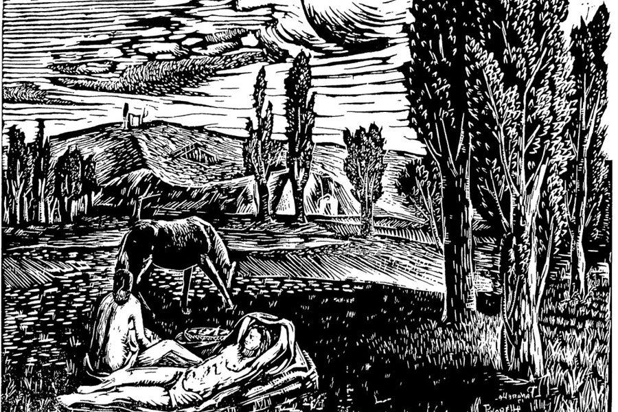 Linoleografia di Luigi Panarella