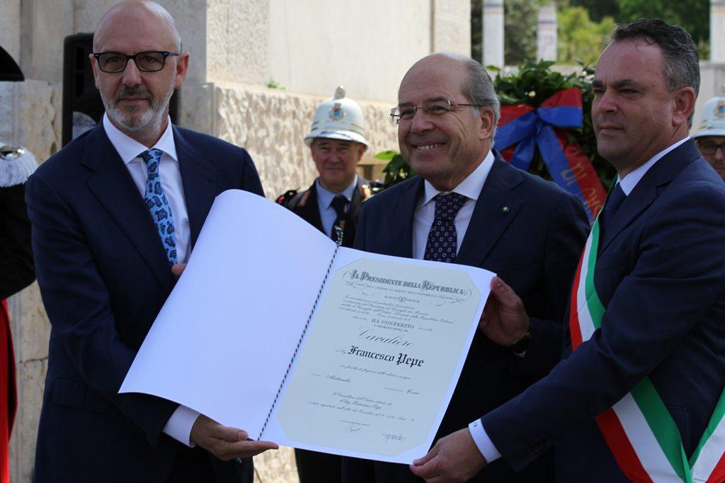 Franco Pepe nominato Cavaliere Al Merito
