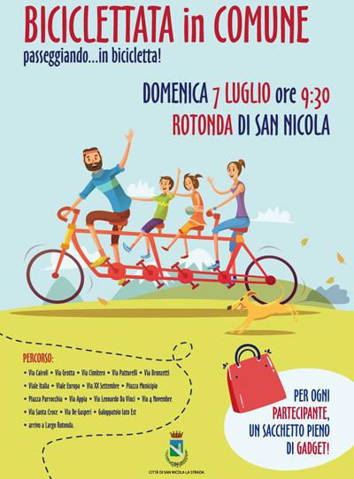 Biciclettata in Comune a San Nicola