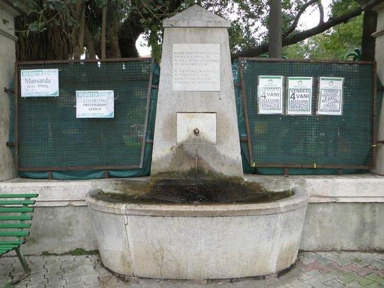 la fontana dinanzi al boschetto di Centurano