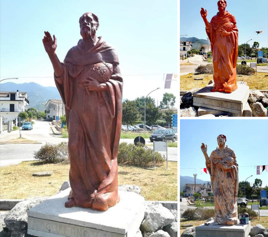 Palio Celestino V 2019 Statua