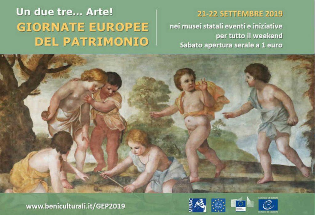 Giornate Europee Del Patrimonio, la Locandina 2019