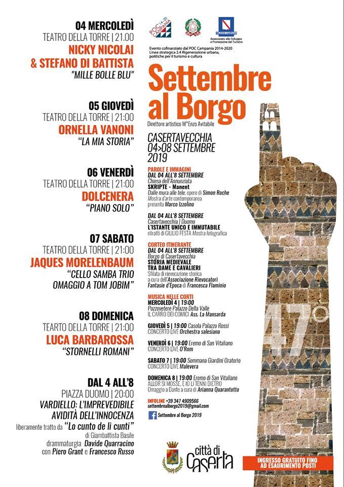 Programma Del Settembre Al Borgo