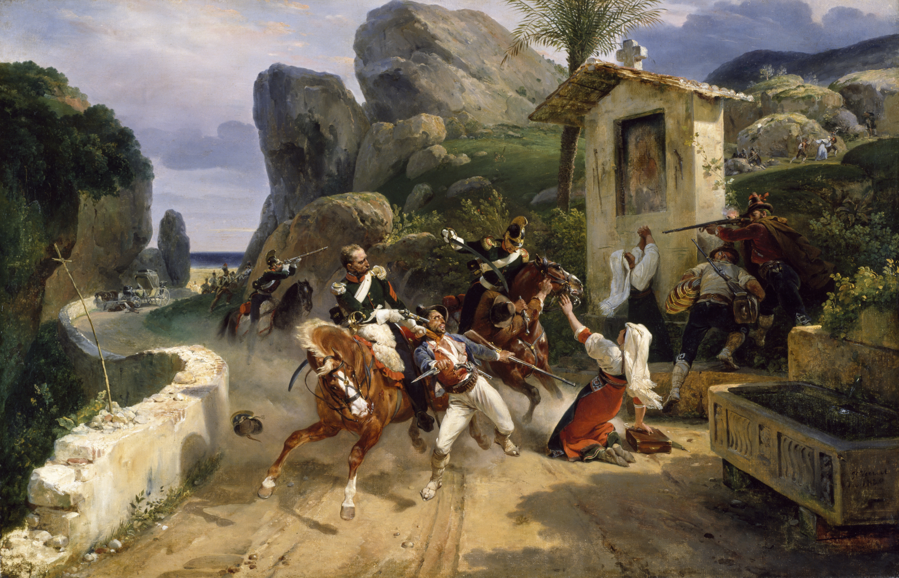 Horace Vernet Italian Brigands Surprised By Papal Troops Walters 3754