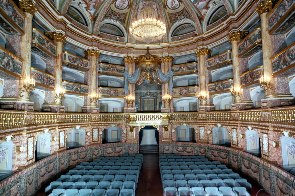 visitare la Reggia di Caserta: Interno Teatro