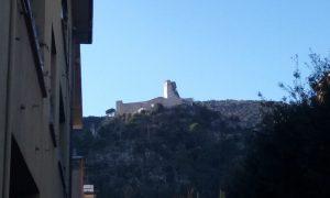 La Rocca Janula fotografata da Cassino
