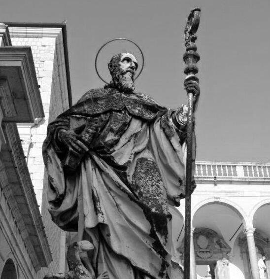 Montecassino - Statua di S. Benedetto