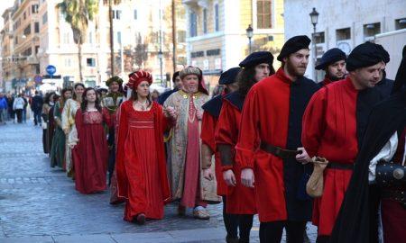 Il Corteo Storico in marcia a Cassino