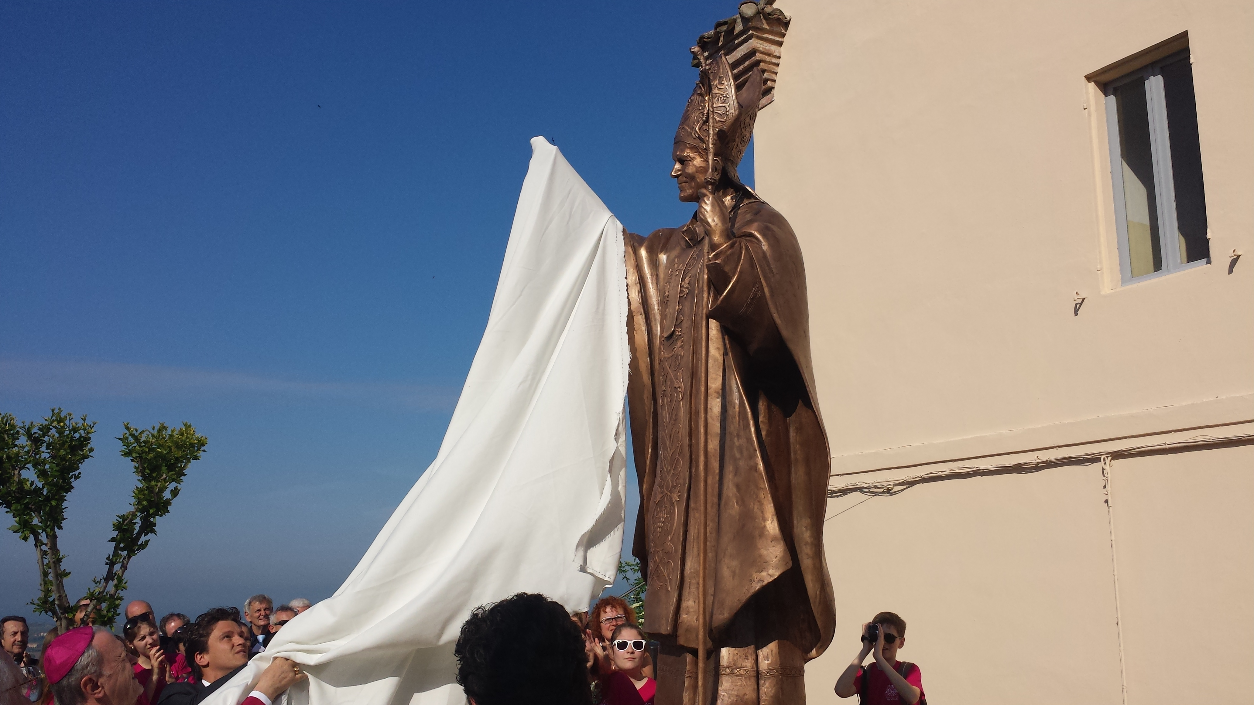 Innagurazione Statua Papa Wojtyla